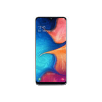 "Samsung Galaxy A20e - Smartphone - dual-SIM - 4G LTE - 32 GB - microSDXC slot - GSM - 5.8"" - 1560 x 720 pixels (294 ppi) - PLS TFT - RAM 3 GB (8 MP front camera) - 2x rear cameras - Android - white"