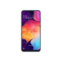 "Samsung Galaxy A50 - Smartphone - dual-SIM - 4G LTE - 128 GB - microSDHC slot, - microSDXC slot - GSM - 6.4"" - 2340 x 1080 pixels (408 ppi) - Super AMOLED - RAM 4 GB (25 MP front camera) - 3x rear cameras - Android - blue"