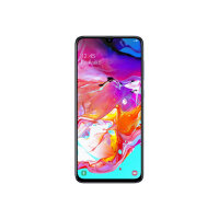 "Samsung Galaxy A70 - Smartphone - dual-SIM - 4G LTE - 128 GB - microSDXC slot - GSM - 6.7"" - 2400 x 1080 pixels - Super AMOLED - RAM 6 GB (32 MP front camera) - 3x rear cameras - Android - white"