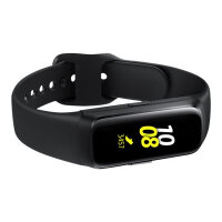 "Samsung Galaxy Fit - Black - activity tracker with strap - fluoroelastomer - black - band size 132-195 mm - display 0.95"" - 32 MB - Bluetooth - 24 g"