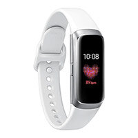 """Samsung Galaxy Fit - Silver - activity tracker with strap - fluoroelastomer - white - band size 132-195 mm - display 0.95"""" - 32 MB - Bluetooth - 24 g"""