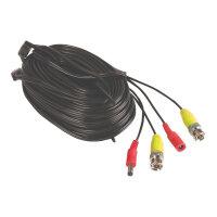 Yale - Power/video extension cable - BNC, DC jack (M) to BNC, DC jack - 18 m