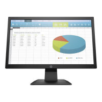 "HP P204 - LED monitor - 19.5"" (19.5"" viewable) - 1600 x 900 HD+ - TN - 250 cd/m² - 1000:1 - 5 ms - HDMI, VGA, DisplayPort - black"