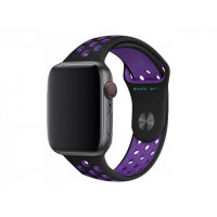 Apple 44mm Nike Sport Band - Watch strap - 140-210 mm - black/hyper grape - demo