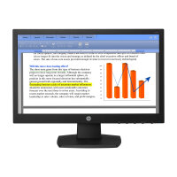 "HP V194 - LED monitor - 18.5"" (18.5"" viewable) - 1366 x 768 - TN - 200 cd/m² - 600:1 - 5 ms - VGA - black"