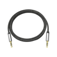 VISION Professional Premium Braided - Audio cable - mono mini jack (M) to mono mini jack (M) - 2 m - black, white