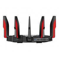 TP-Link Archer AX11000 - Wireless router - 8-port switch - GigE, 2.5 GigE, 802.11ax - 802.11a/b/g/n/ac/ax - Dual Band