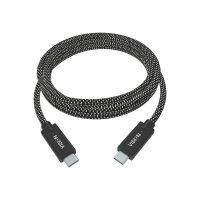 Vision Professional Premium Braided - USB cable - USB-C (M) to USB-C (M) - USB 3.1 - 3 A - 1 m