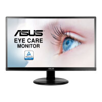 "ASUS VA229HR - LED monitor - 21.5"" - 1920 x 1080 Full HD (1080p) - IPS - 250 cd/m² - 1000:1 - 5 ms - HDMI, VGA - speakers - black"