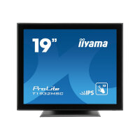 "iiyama ProLite T1932MSC-B5AG - LED monitor - 19"" - touchscreen - 1280 x 1024 - IPS - 250 cd/m² - 1000:1 - 14 ms - HDMI, VGA, DisplayPort - speakers - black"