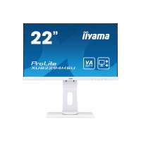 "iiyama ProLite XUB2294HSU-W1 - LED monitor - 22"" (21.5"" viewable) - 1920 x 1080 Full HD (1080p) - VA - 250 cd/m² - 3000:1 - 4 ms - HDMI, VGA, DisplayPort - speakers - matt white"