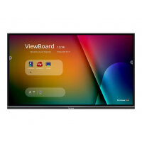 """ViewSonic ViewBoard IFP7550-3 - 75"""" Diagonal Class (74.5"""" viewable) LED display - interactive - with optional slot-in PC capability and touchscreen (multi touch) - 4K UHD (2160p) 3840 x 2160 - D-LED Backlight"""