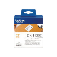 Brother DK-11202 - Black on white - 62 x 100 mm 300 label(s) (1 roll(s) x 300) shipping labels - for Brother QL-1050, 1060, 500, 550, 560, 570, 580, 600, 650, 700, 710, 720, 820