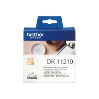 Brother DK-11219 - Black on white - Roll (1.2 cm) 1200 pcs. (1 roll(s) x 1200) labels - for Brother QL-1050, QL-1060, QL-500, QL-550, QL-560, QL-570, QL-580, QL-650, QL-700, QL-720