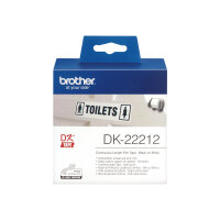 Brother DK-22212 - Permanent adhesive - white - Roll (6.2 cm x 15.2 m) tape - for Brother QL-1050, 1060, 500, 550, 560, 570, 580, 600, 650, 700, 710, 720, 820