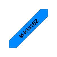 Brother M-K531BZ - Black on blue - Roll (1.2 cm x 8 m) 1 roll(s) non-laminated tape - for P-Touch PT-55, PT-65, PT-75, PT-85, PT-90, PT-BB4