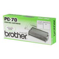 Brother PC70 - Black - print ribbon - for FAX-T72, T74, T76, T78, T82, T84
