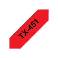Brother TX - Black on red - Roll (2.4 cm) 1 roll(s) laminated tape - for P-Touch PT-30, PT-7000, PT-8000, PT-PC