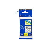 Brother TZe-121 - Standard adhesive - black on clear - Roll (0.9 cm x 8 m) 1 roll(s) laminated tape - for Brother PT-D210, D600, H110; P-Touch PT-1005, 1880, E800, H110; P-Touch Cube Plus PT-P710