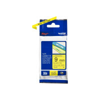 Brother TZe-621 - Black on yellow - Roll (0.9 cm x 8 m) 1 roll(s) laminated tape - for Brother PT-D210, D600, H110, H200; P-Touch PT-1005, 1880; P-Touch Cube Pro PT-P910