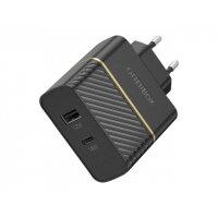 OtterBox Premium - Power adapter - 30 Watt - 3 A - PD 3.0 - 2 output connectors (USB, USB-C) - black shimmer - Europe