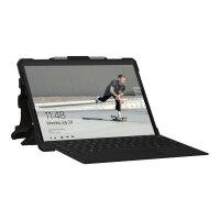 UAG Rugged Case for Microsoft Surface Pro X w/ Handstrap & Shoulder Strap - Plasma Ice - Back cover for tablet - rugged - for Microsoft Surface Pro X