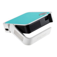 ViewSonic M1 mini Portable DLP Projector - HDMI, USB, Remote Control, Stereo Speakers, Outdoor & Indoor, Portable, LED - 120 Lumens - WVGA (854 x 480), 16:9 Ratio, 1.07 Billion Colours - Colour: White, Blue