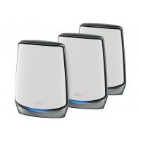 NETGEAR Orbi RBK853 - Wi-Fi system (router, 2 extenders) - mesh - GigE, 2.5 GigE, 802.11ax - 802.11a/b/g/n/ac, 802.11a/b/g/n/ac/ax - Tri-Band