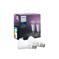 Philips Hue White and Color Ambiance - LED light bulb - shape: A60 - B22 - 9 W (equivalent 60 W) - class A+ - 16 million colours - 2200-6500 K (pack of 2)