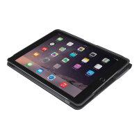Logitech Slim Folio - Keyboard and folio case - Bluetooth - QWERTZ - Swiss German - black - for Apple 9.7-inch iPad (5th generation, 6th generation)