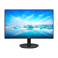 "Philips V-line 242V8LA - LED monitor - 24"" (23.8"" viewable) - 1920 x 1080 Full HD (1080p) @ 75 Hz - VA - 250 cd/m² - 3000:1 - 4 ms - HDMI, VGA, DisplayPort - speakers - textured black"