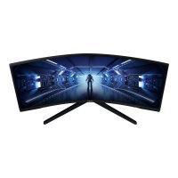 "Samsung Odyssey G5 C34G55TWWU - G55T Series - LED monitor - curved - 34"" - 3440 x 1440 Ultra WQHD @ 165 Hz - VA - 250 cd/m² - 2500:1 - 1 ms - HDMI, DisplayPort - black"