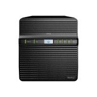 Synology Disk Station DS420j - NAS server - 4 bays - RAID 0, 1, 5, 6, 10, JBOD - RAM 1 GB - Gigabit Ethernet - iSCSI