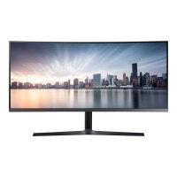 "Samsung C34H890WGR - CH89 Series - LED monitor - curved - 34"" (34"" viewable) - 3440 x 1440 Ultra WQHD @ 100 Hz - VA - 300 cd/m² - 3000:1 - 4 ms - HDMI, DisplayPort, USB-C - silver"