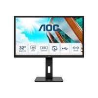 """AOC Q32P2 - LED monitor - 31.5"""" - 2560 x 1440 QHD @ 75 Hz - IPS - 250 cd/m² - 1000:1 - 4 ms - 2xHDMI, DisplayPort - speakers - black"""