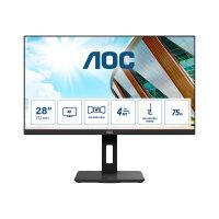 """AOC U28P2A - LED monitor - 28"""" - 3840 x 2160 4K @ 60 Hz - IPS - 300 cd/m² - 1000:1 - 4 ms - 2xHDMI, 2xDisplayPort - speakers - black"""