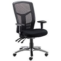 Avior 24-Hour High Back Mesh Task Operator Office Chair Black 09HD05