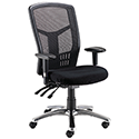 Avior 24-Hour High Back Mesh Operator Chair Black 09HD05