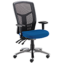 Avior 24-Hour High Back Mesh Operator Chair Blue 09HD05