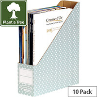 Fellowes Bankers Box Magazine File Green and White Pack of 10