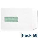 Basildon Bond Window C5 White 100gsm Envelopes Peel and Seal Pocket Pack 50 Ref M80278