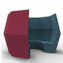 Meeting Pod BEN 6 Section Den Red & Grey