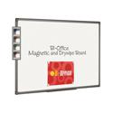 Bi-Office Magnetic Whiteboard 600x450mm Aluminium Finish MB0406186