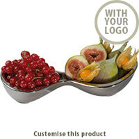 "2- Piece Chrome Bowl ""lancaster"" 113464 - Customise with your brand, logo or promo text"