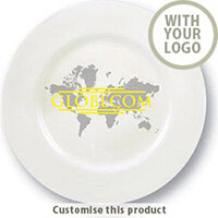 10 Inch Bone China Plate 7013219 - Customise with your brand, logo or promo text