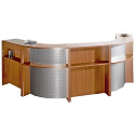 Buronomics V-Shaped Reception Unit Beech BIEN BEECH