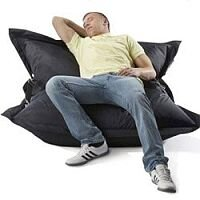 Black Strapping Bean Bag Large For Indoor and Outdoor Use