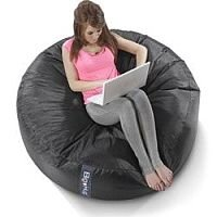 Round Black Bean Bag Large For Indoor or Outdoor Use