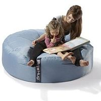 Round Blue Bean Bag Large For Indoor or Outdoor Use