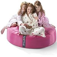 Round Pink Bean Bag Large For Indoor or Outdoor Use